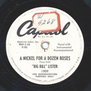 Big Bill Lister - A nickel for a dozen roses / One more beer