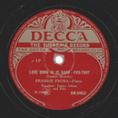 Jimmy Atkins & Frankie Froba - Love Song In 32 Bars /...