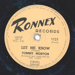 Tommy Morton - Rich in Love / Let Me Know