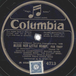 Ray Starita - Bless her little Heart / I left my sugar standing in the rain, yale Blues