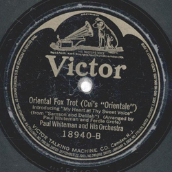 Paul Whiteman - Three OClock in the Morning / Oriental Fox Trot