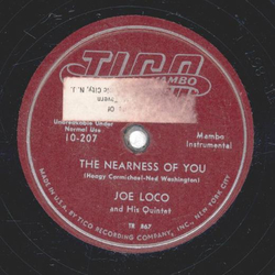 Joe Loco - Sadie Thompson´s Song / The Nearness Of You