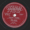 Joe Loco - Colony Mambo / Monticello Mambo