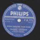 Frankie Vaughan - Kisses Sweeter Than Wine / Rock-A-Chicka
