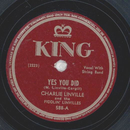 Charlie Linville - Yes You Did / Snow Deer
